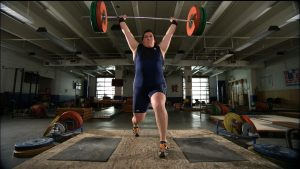 Sarah Robles with Barbell