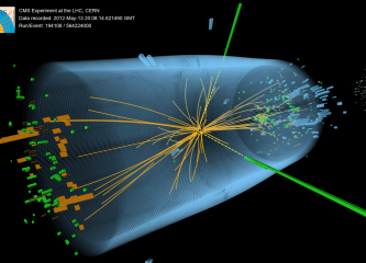 Computer Image of Evidence for Higgs Boson