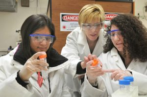 Science Students in Lab