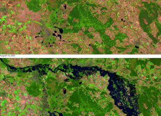 Satelite image of Flooding in Germany 2002