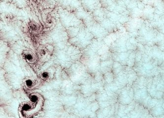 von Karman Vortices in the clouds over southern Pacific Ocean
