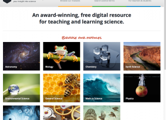 Sneak peak of the newly redsigned Visionlearning homepage
