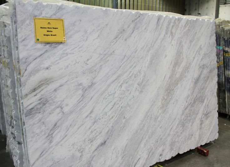 Different Types Of White Marble : A slab of super white sold as granite
