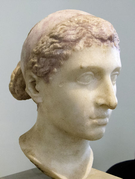 Marblebust of Cleopatra VII of Egypt form 30-40 BC