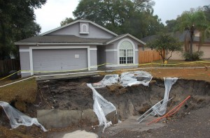 Sinkhole in West-Central Florida, from Freeze Event of 2010 (Credit: US Geological Survey, Department of the Interior/USGS. Photo by Ann Tihansky)