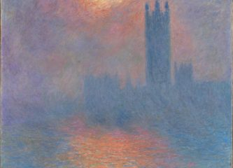 Claude Monet. London, Houses of Parliament. The Sun Shining through the Fog, 1904, in the Musée d'Orsay , Paris. (Public Domain)