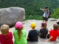 A teacher and her audience at Acadia National Park, Maine. ©NPS