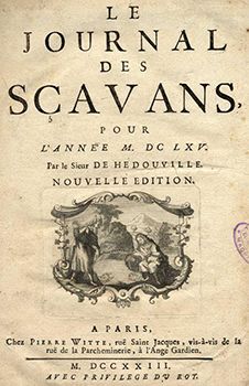 Title page of the first issue of le Journal des Scavans