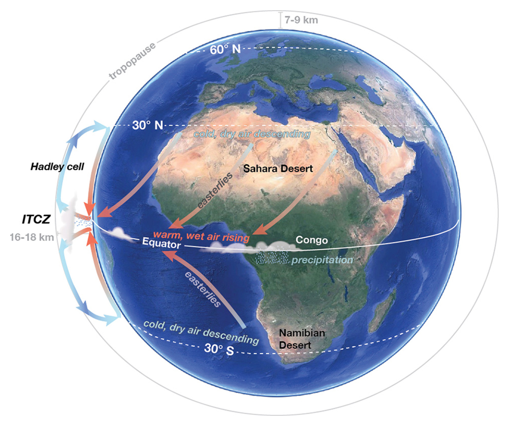 Factors That Control Regional Climate Earth Science Visionlearning Cell Diagram Image Maps A Showing The Relationship Between Hadley And Continental