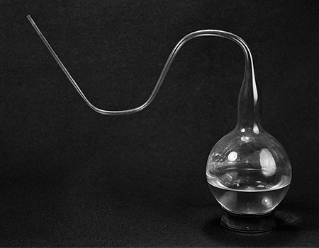 Pasteur's flask with long, swan-like necks