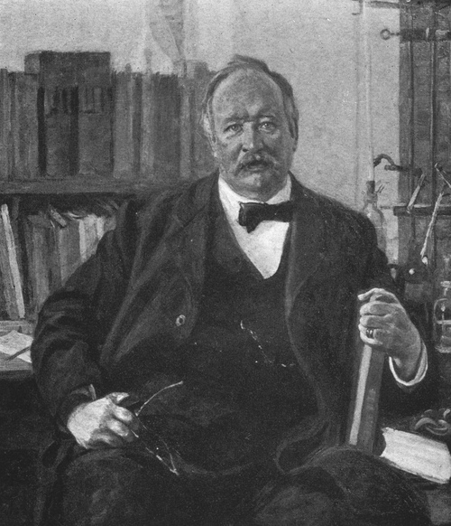 Svante Arrhenius in his lab.
