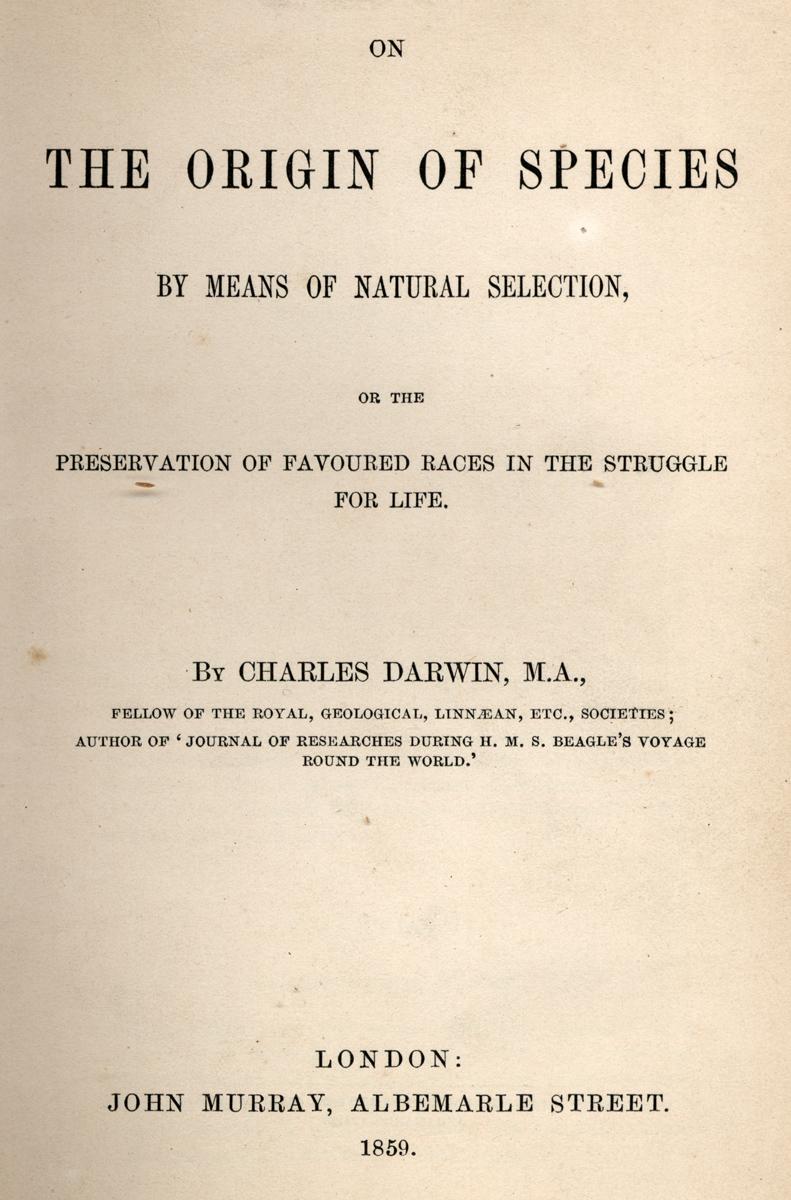 Darwin 1859 Origin