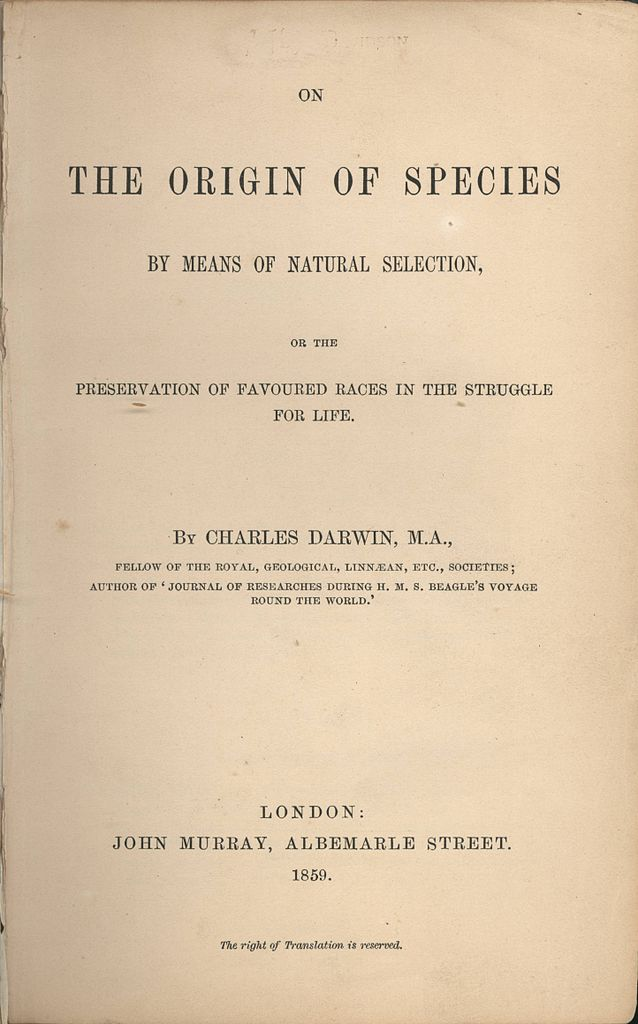 charles darwin ii biology visionlearning origin of species cover