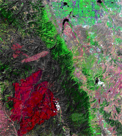 Hayman Fire satellite image