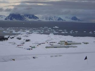 Rothera Research Station on Adelaide Island