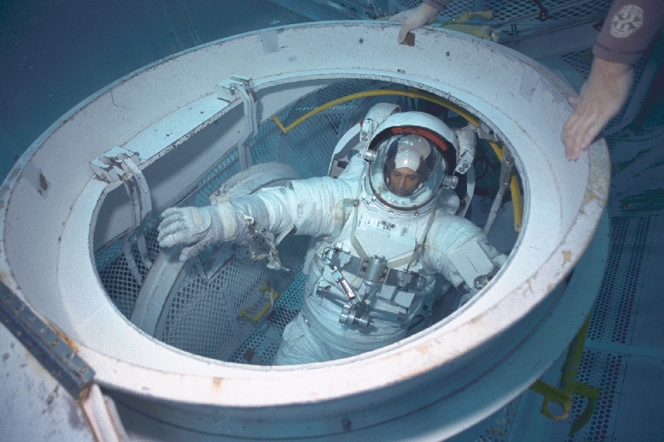 Astronaut underwater training