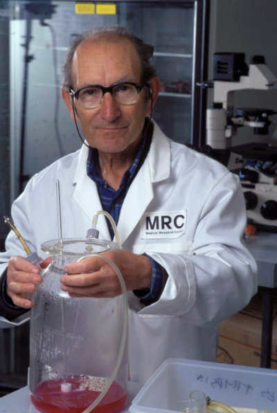 Milstein in the lab