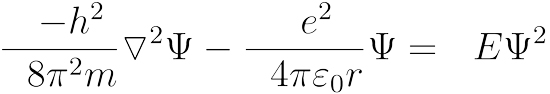 Schrodinger equation hydrogen