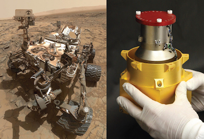 Curiosity rover and radiation