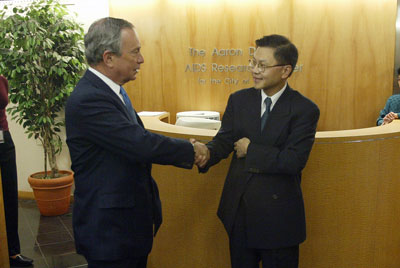 David Ho and Michael Bloomberg