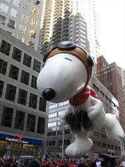 Snoopy balloon parade