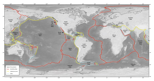 map of subduction zones